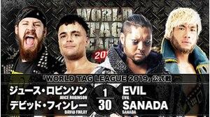 WORLD TAG LEAGUE 2019 - TOURNAMENT MATCH Juice Robinson & David Finlay vs.